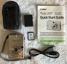 Canon PowerShot Digital ELPH SD100 3.2MP Digital Camera -Excellent~~SD card~~