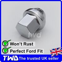 ALLOY WHEEL NUT FOR FORD (M12x1.5) CHROME TAPERED SEAT 19MM HEX LUG BOLT [1N]