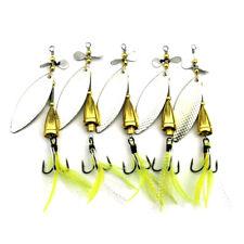 5PCS Fishing Spinnerbaits Spoon Bait 10cm/13g Metal Crankbait Lures Blade Trout