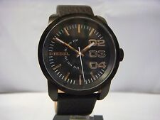 DIESEL BLACK DIAL ROSE GOLD CASE BLACK LEATHER STRAP MEN'S WATCH DZ1567 NEW
