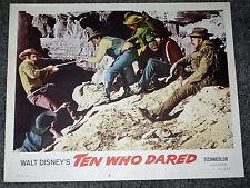 Zehn wer wagte Original 1960 Lobby Card Poster Ben Johnson/James Drury/Moab Utah