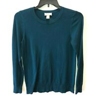 Loft Outlet Womens Small Blue Long Sleeve Round Neck Pullover Sweater Top Size S