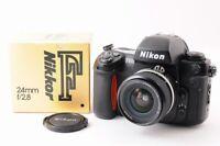 【MINT】NIKON F100 35mm SLR Film Camera +AIS 24mm F/2.8 MF Lens IN BOX From JAPAN