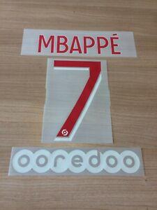 Flocage officiel MBAPPE N°7 PSG 2020/2021 pour maillot domicile home vendeur pro