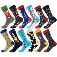 New Men Fashion Colorful Crew Socks Novelty Casual Dress Unisex Funky Ankle Sox
