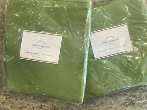 Pottery Barn Set 2 Torrey Armless Chair Outdoor Slipcover Furniture Cover Green