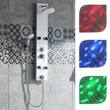 Colonne de douche àLED avecjets de massagedouchette robinetterie