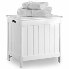 VonHaus Colonial White Laundry Hamper Bathroom Space-saving storage Unit