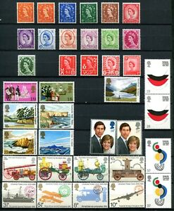 Great Britain, Jersey, Guernsey, Man - Lot of stamps Mint Never Hinged (3 pages)