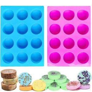 12 Cavity Cylinder Silicone Mold/Round Soap Mold/Handmade Shower Steamer Mold AU