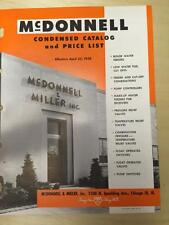 McDonnell & Miller Catalog ~Boiler Water Feeders Safety Devices Valve '58