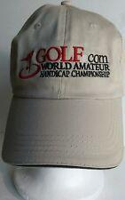 Golf.com World Amateur Handicap Championship Beige  Adj. Cap Hat