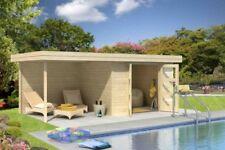 HOLZ BLECH Gartenhaus 28mm Chatel 5 595 x 310 cm Blockhaus Holz Haus Geräte