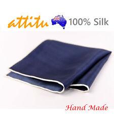 100% Silk Elegant Men Pocket Square Handkerchief Hand Made ATTITU Darwin Series