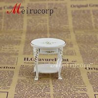 Dollhouse 1/12 Scale Miniature furniture small table white Hand painted