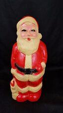"VTG Santa Claus Christmas Hard Plastic Blow Mold 13"" Union Products USA Light up"