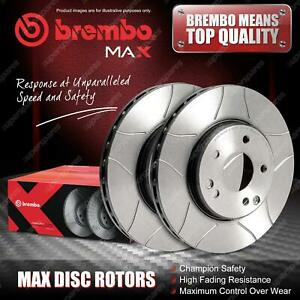 2x Front Brembo Slotted Disc Brake Rotors for MG ZR ZS 1.6L 2.0L 2001 - 2005