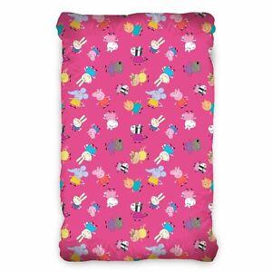 Peppa und Freunde Pink Einzel Enganliegend Baumwolle Blatt - Peppa Pig