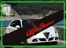 Alfa Romeo script Sun Strip Visor Windshield Windscreen Decal Sticker GTV 75 155