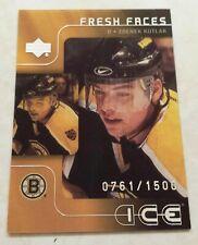 2001-02 UD Upper Deck ICE Fresh Faces 761/1500 RC Boston Zdenek Kutluk Card #45
