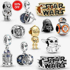 Full Series of Star Wars Yoda 925 Sterling Silver Pandora Charms Chewbacca NW20