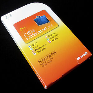 Microsoft Office 2010 Professional, Full UK Retail box, Product Key Card, + USB
