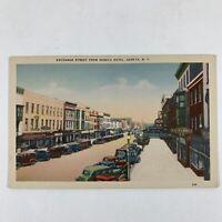 Exchange Street from Seneca Hotel, Geneva NY Vintage Postcard, JC Penney