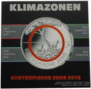 5 x 5 Euro Subtropische Zone 2018 ADFGJ Stempelglanz im Blister