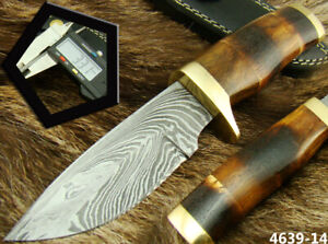 ALISTAR BEAUTIFUL HANDMADE DAMASCUS STEEL SKINNER/HUNTING KNIFE (4639-14