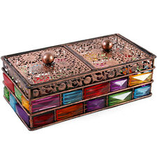 Beautiful Bejewelled Double Trinket Box + FREE GIFT