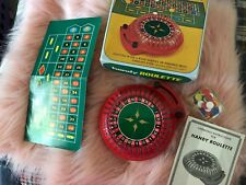 VINTAGE HANDY ROULETTE SET CHIPS Board Collectors Item Las Vegas Battery Op.