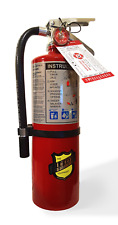 5 Lb Abc Fire Extinguisher With Vehicle Bracket Tagged 2021 Ready For Inspection