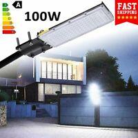 100W LED Road Street Flood Light Garden Spot Lamp Head Outdoor Yard Cool White