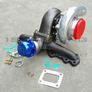 Exhaust Manifold+38mm Wastegate+T4 .68AR Turbo For Toyota Supra Lexus IS300 3.0L