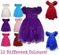 NEW! Girls Bridesmaid Kids Princess Wedding Summer Party Flower Satin Net Dress