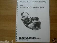 J0108 JLO---MONTAGE HANDLEIDING  VOOR JLO MOTOR---TYPE MM 540-MODEL BATAVUS