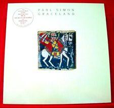 Paul Simon Graceland LP Europe ORIG Embossed Cover+Lyric Inner 1986 Warner VINYL