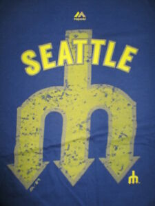 Cooperstown Collection SEATTLE MARINERS 79 95 97 01 02 07 Tickets (3XL) T-Shirt