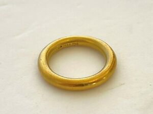 B. Kieselstein Cord 18k Yellow Gold Band Ring Size 4.75