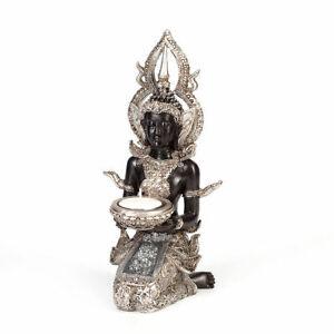 Thai Buddha Deko Figur Teelichthalter Budda Feng Shui Innere Mitte Buddismus