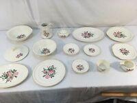 Vintage The Harker Pottery Company USA Made 22 Kt Gold Trim China Dinnerware Set