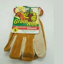 2 Sets of Quality Leather 100% Cow Hide Water-Resistant Gloves Garden Farm Cheap