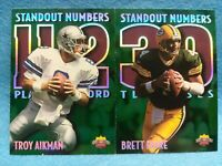TROY AIKMAN & BRETT FAVRE 1997 SCORE BOARD STANDOUT NUMBERS SP 2 CARD LOT  HOT!!
