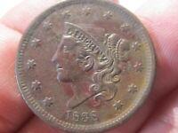 1838 Large Cent - Coronet Head - Extra Fine ++ Cond   Lot# AV-26