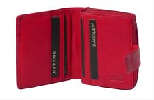 Saddler Genuine Leather 10cm Compact Purse Wallet Tabbed Boxed Post Box Red