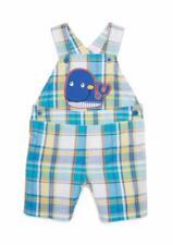 NURSERY RHYME® Baby Boy 12M Whale Applique Plaid Shortall NWT $36