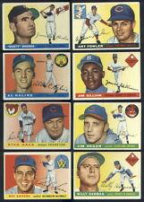 (32488) 1955 Topps Baseball partial set Spahn Kaline Black Irvin Dodgers Yankees