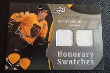 RAY BOURQUE 2009-10 UD Trilogy Honorary Swatches DUAL Game Used JERSEY Bruins