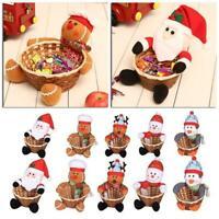 Merry Christmas Decoration Baskets Party Xmas Gift Food Santa Claus Basket
