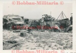 P129 Calais Schrottplatz Beute Waffen Fahrzeuge SdKfz 251 Schützenpanzerwagen !
